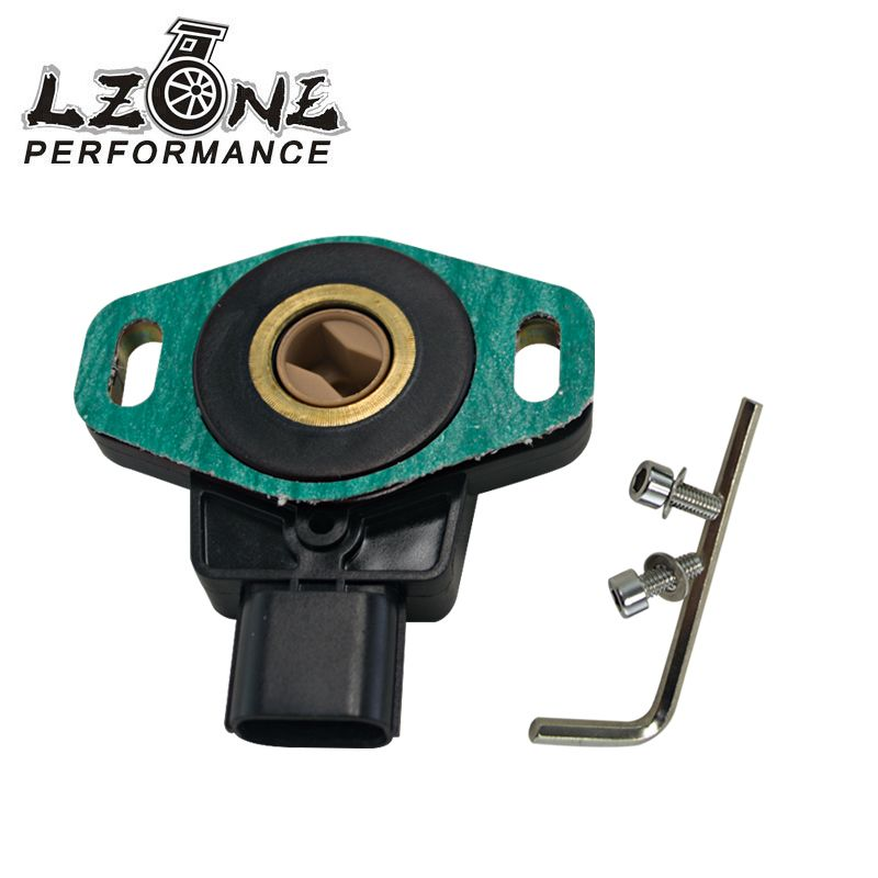 LZONE RACING - FOR CIVIC SI RSX TYPE S K20A2 TPS THROTTLE POSITION SENSOR WITH GASKET AND BOLTS JR5971