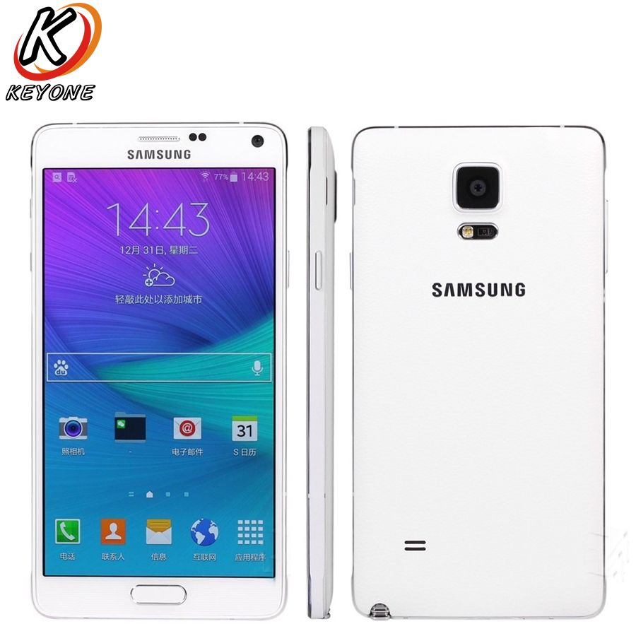 Original Samsung Galaxy Note 4 N9100 Note4 LTE Mobile Phone Snapdragon 805 5.7 16GB ROM 3GB RAM NFC Cell Phone