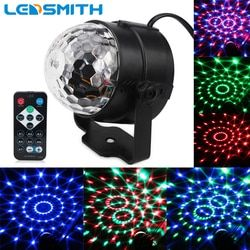 3W RGB Party Stage Light Music Sound Activated Rotating Magic Ball Projector Remote Control Dancing Disco Lights for DJ KTV Bar