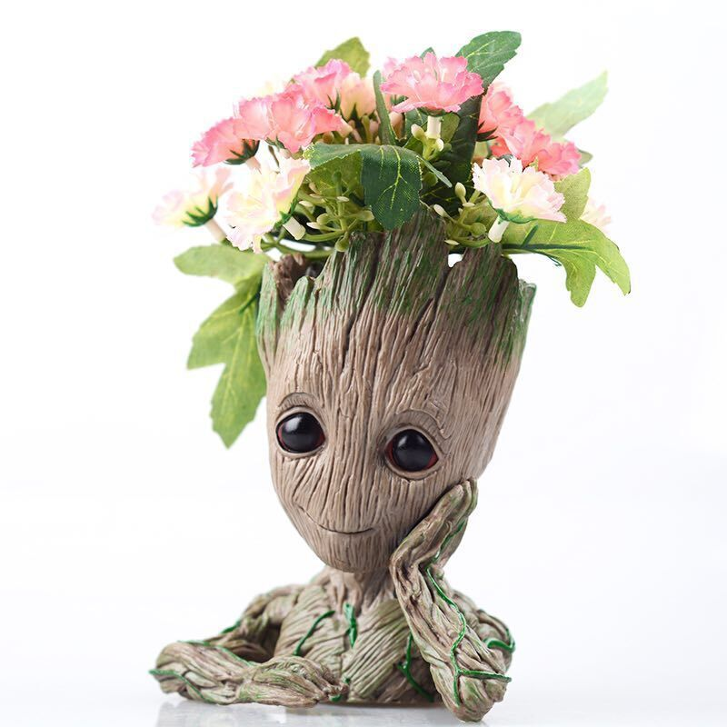 Grootted Planter Pot Baby Flowerpot Action Figures Toy Pen Pot PVC Hero Model Guardians Of The Galaxy Crafts Figurine Succulents
