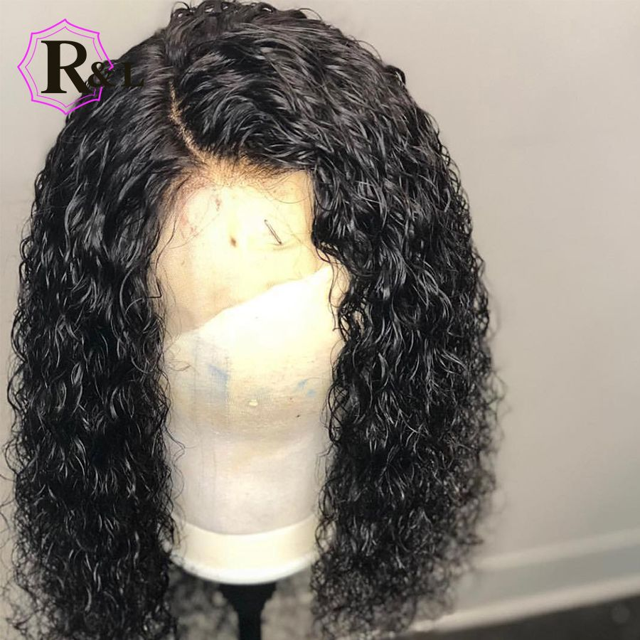 RULINDA Curly Wig Brazilian Lace Front Human Hair Wigs With Baby Hair Lace Front Wig Remy Hair Pre Plucked Bleached Knots