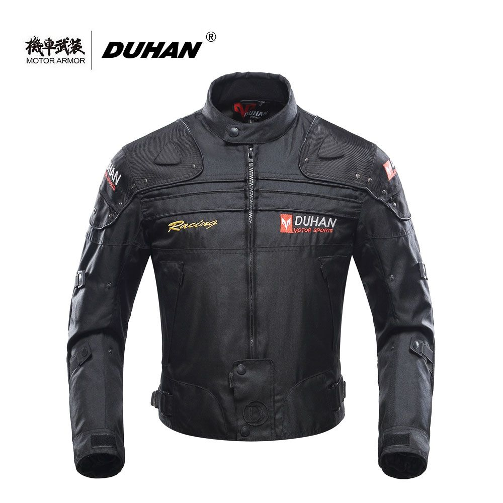 Moto DUHAN Motorcycle Mens Riding Windproof Jacket Clothing Motocross OffRoad Racing Protection Coat Winter Summer CE Approved