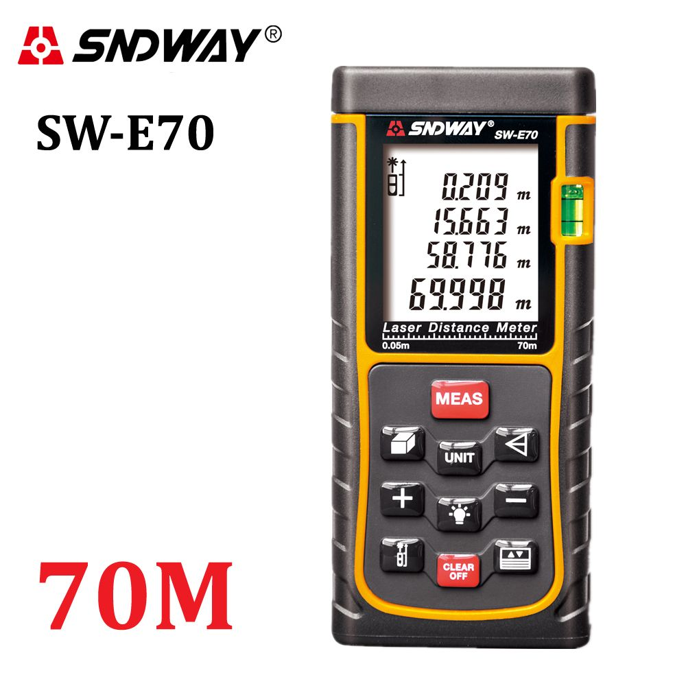 RZ70 229ft SNDWAY Laser Distance Meter Rangefinder 70m Digital trena Laser Range Finder Area-volume-Angle measure ranging device