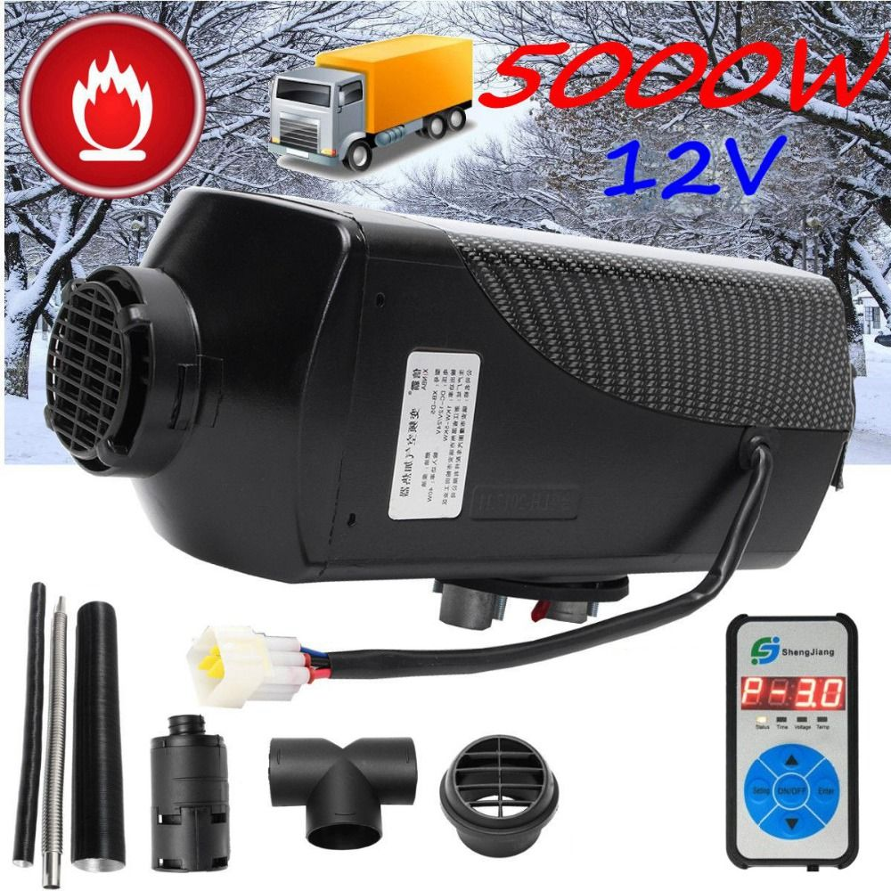 5KW 12V Air diesels Heater Parking Heater With Remote Riscaldatore  Digital Display