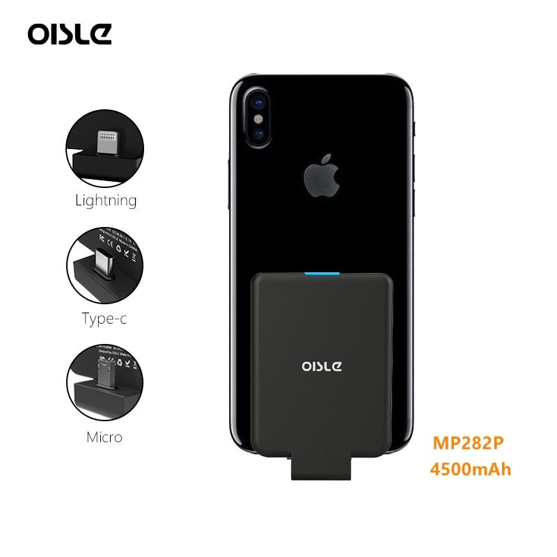 Mini Power Bank Case Ultra-thin Portable External Backup Battery Charger Case For iPhone X XS Samsung S8 Xiaomi 8 Huawei P20