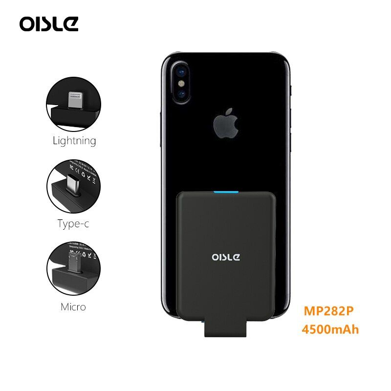 Mini Power Bank Case Ultra-thin Portable External Backup For iPhone X XS Samsung S8 Xiaomi 8 Huawei P20 Battery Charger Case
