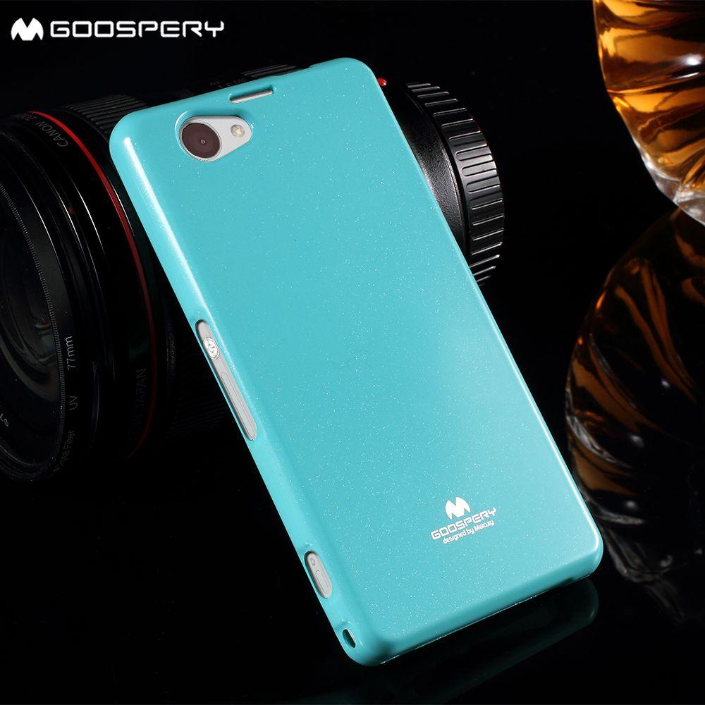 Mercury GOOSPERY für Sony Xperia Z1 Mini Compact D5503 abdeckung glittery Puder TPU Zurück Fall für Sony Xperia Z1 Compact D5503