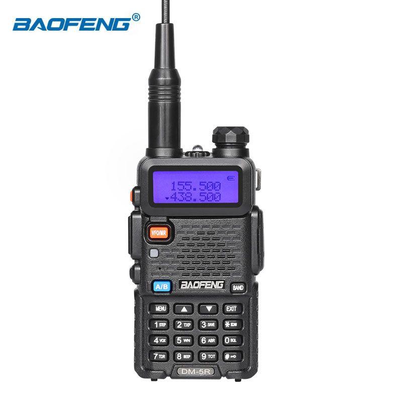 Baofeng DM-5R baofeng DMR digital UV5R two way radio handheld radio walkie talkie ham radio for hunting digital analog radio