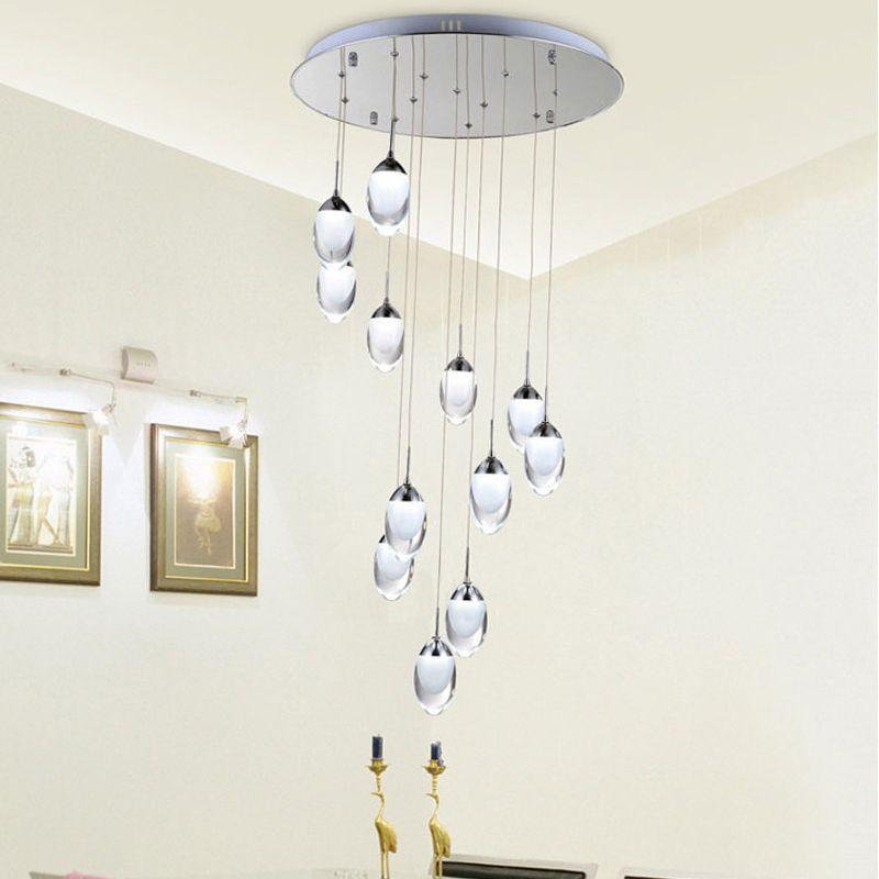 Moderne LED Pendentif Lumières Lampes Suspendues Décoration Intérieure Eclairage Escalier lumière Blanc Chaud/Blanc Froid Lumière Pendante