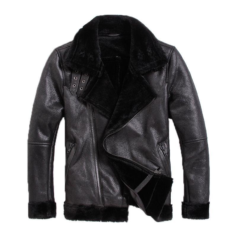 Free shipping,Brand new mens motorbiker leather Jackets,man genuine Leather jacket.woo,fur,winter warm Shearling coat.sales