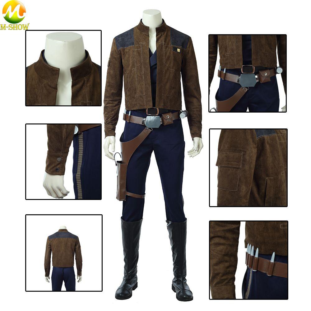 Star Wars Solo Cosplay Mantel Han Solo Cosplay Braun wildleder Mantel Hübscher Mantel hosen Für Halloween Nach Maß