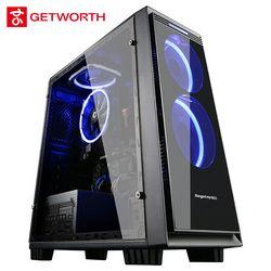 Getworth S1 Oficina ordenador Ordenador de doble núcleo Intel Pentium G4560 1 TB HDD 4G memoria B250 para LoL brico-Escritorios