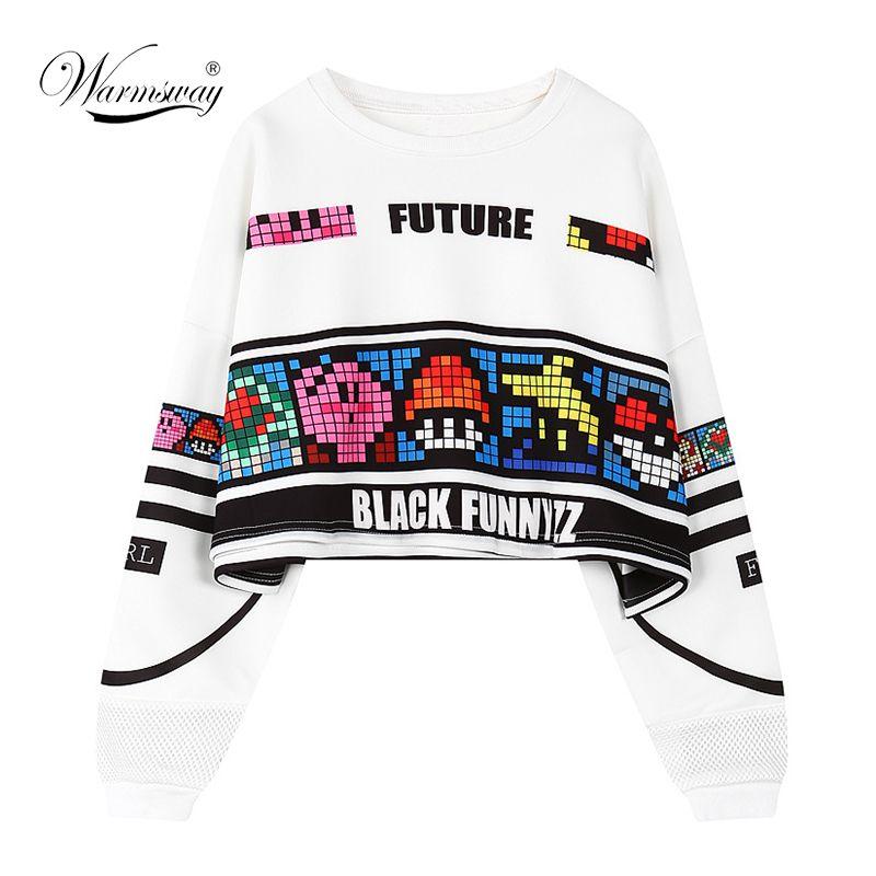 woman's sweatshirt harajuku letters sexy crop top punk hip-hop hoody large size sudaderas mujer fashion feminino moleton B-008