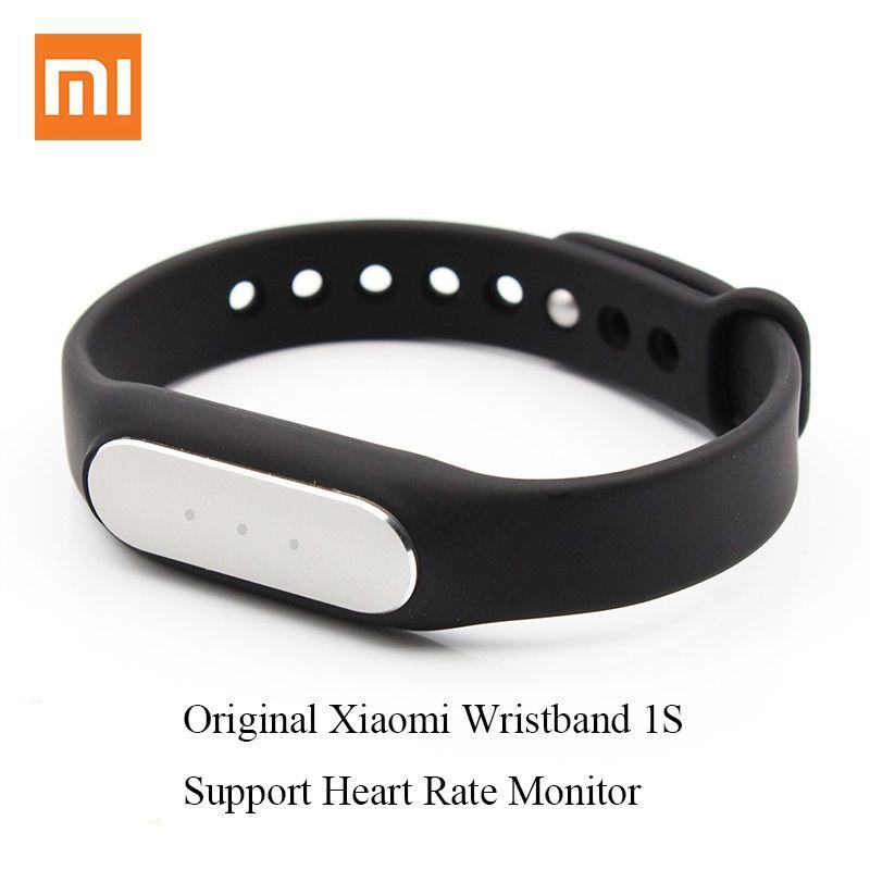 100% Original Xiaomi Mi Band 1 S Smart Armband, Herzfrequenz Pulsmesser, Schrittzähler, Sport Aktivität Tracker, mode Sport Armband