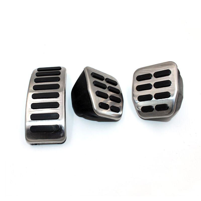 Couvercle de frein d'accélérateur d'embrayage de chapeau de pédales de voiture d'acier inoxydable pour VW Polo Golf 4 Jetta MK4 Bora pour le style de voiture de Skoda Fabia