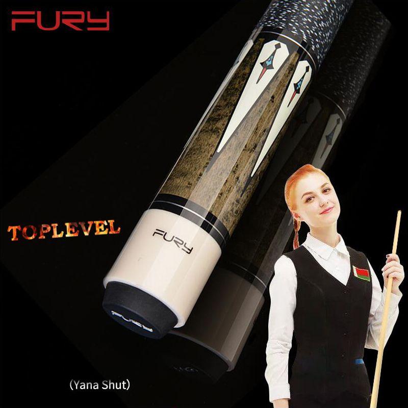 2019 FURY DL Pool Queue mit Fall Billard Queue Kit Pool Queue Kit Professionelle Player Verwenden 11,75mm 13mm Spitze Schwarz 8 Cue