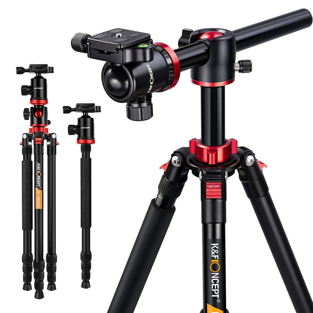 K & F Concept TM2534T DSLR caméra trépied 66' magnésium Aluminium monopode professionnel trépieds W/360 ° rotule pour Canon Nikon