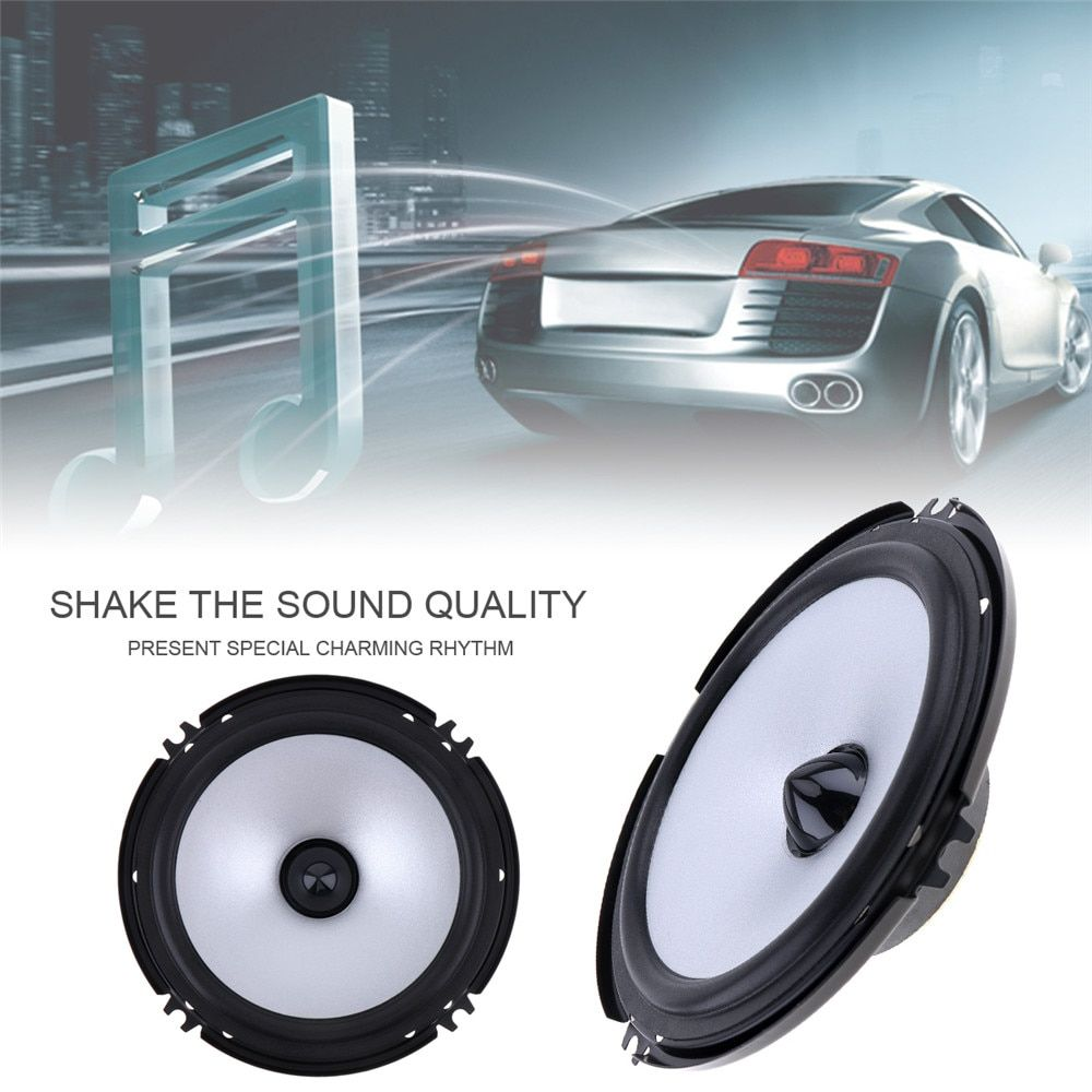 Universal New 2 PCS 6.5 Inch 60W Car Speaker Automobile Car HiFi Audio Full Range Frequency Speaker High Pitch Loudspeaker