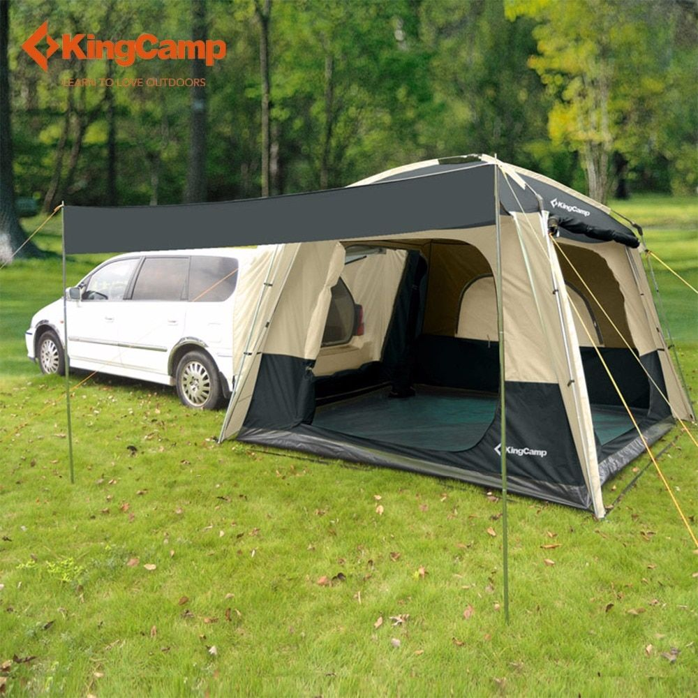 KingCamp Camping Tent 5-Person SUV Car Tent for Outdoor Camping Self-driving Travelling Double layer Tent 4-Season Using