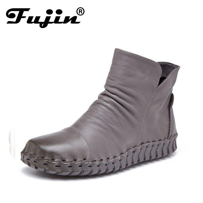 Осень-зима Осенняя модная обувь женские ботинки, сапоги femenina Chaussures Zapatos Mujer Ботильоны для Для женщин обувь из натуральной кожи