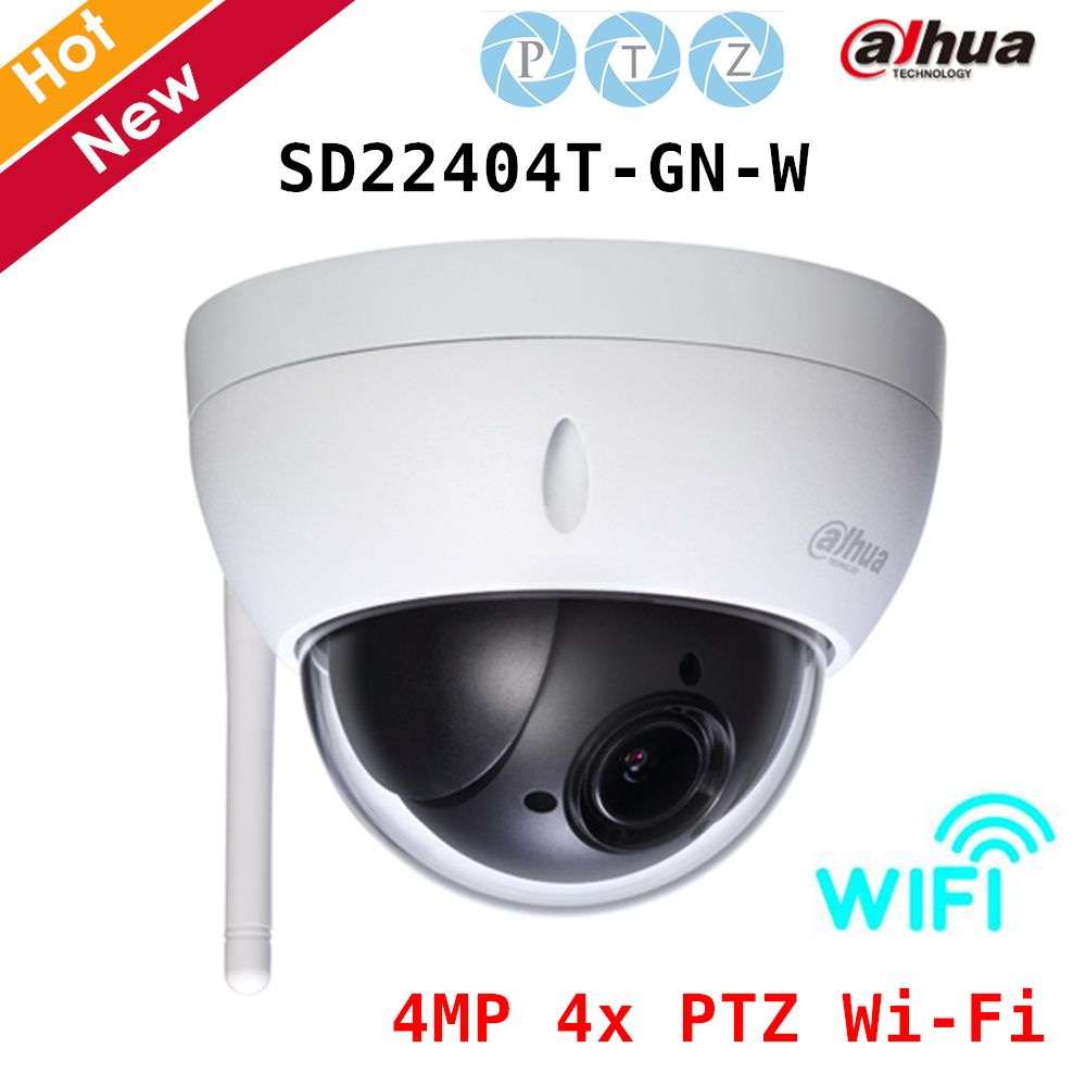 Dahua Speed Dome Camera SD22404T-GN-W 4MP 4x PTZ Wi Fi Network Camera Day/Night H.265 2.7mm~11mm Lens Wifi camera IP66