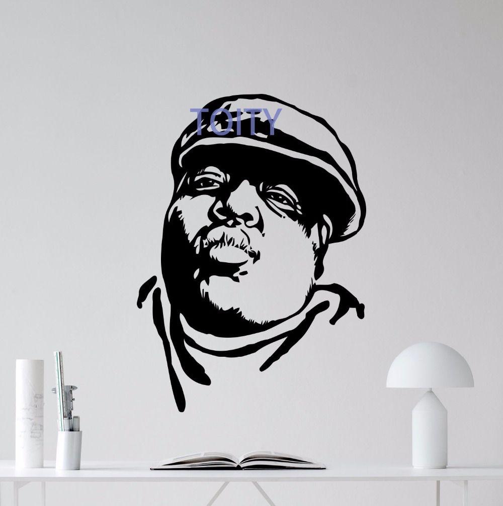 Notorious Big Wall Decal Rap Music Vinyl Sticker Hip Hop Poster Art Decor Mural H 81cm x W 58cm
