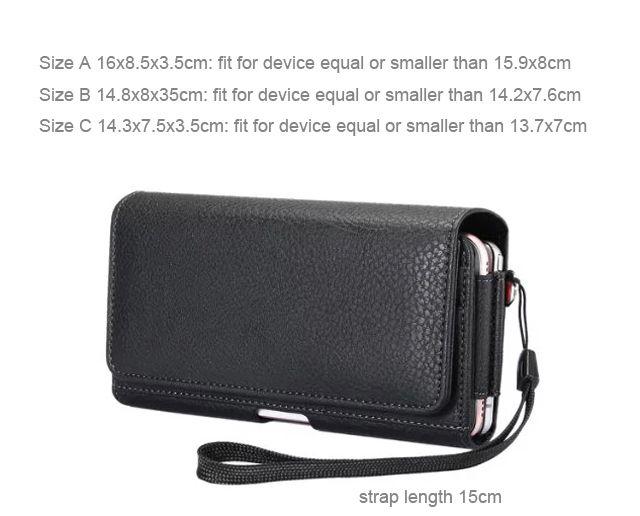 Vertical Horizontal Strap Belt Clip Dual Mobile Phone Leather Case For Huawei P9 lite mini,ZTE nubia Z17 lite