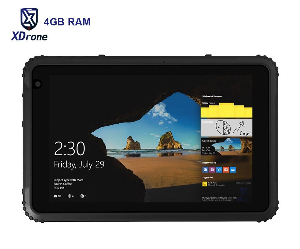 Original K88H Windows Tablet PC 4GB RAM IP67 Waterproof Shockproof Tough Slim 8 Inch Quad Core Z8350 OTG 4G LTE GNSS Ublox GPS