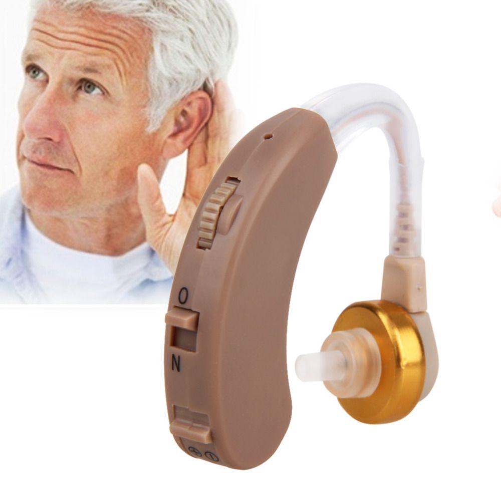 Amplificateur de son auditif réglable en Volume derrière l'oreille amplificateur de voix sonore Invisible avec batterie