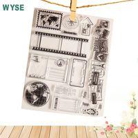 Herramienta de artesanía sello transparente vintage mundo viaje tierra mapa claro sellos/sello para DIY Scrapbooking sello álbum foto decorativa
