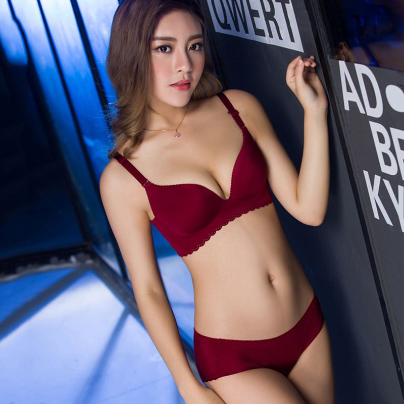 Sexy Women Bra Set Adjustable Seamless Bra Brief Sets Lady Brassiere Suit Lingerie Push Up Bra and Panty Set Underwear