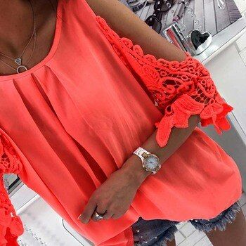 LASPERAL Femmes Blouse Chemise 2018 Nouveau Summer Beach Casual Sexy froid Épaule Manches Longues Évider Dames Mujer Tops Tee Blusas