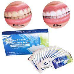 14 пар отбеливание зубов полоски 3D отбеливание блеск зубов Advanced Double эластичный гель Чистка для ухода за зубами отбеливание зубов инструмент