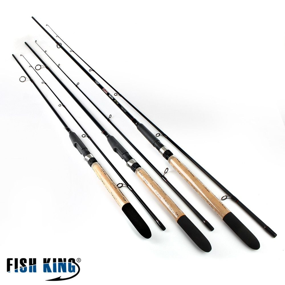 FISH KING 99% Carbon Soft Bait Lure Spinning Rod 2.1m 2.4m 2.7m 5-25G 2 Section Lure Weight 20-60LB Line Weight Carp <font><b>Fishing</b></font> Rod