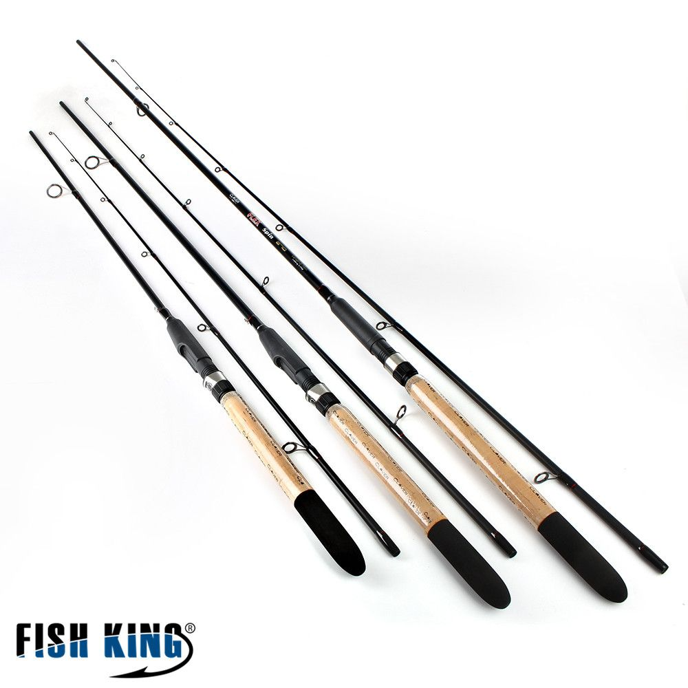 FISH KING 99% Carbon Soft <font><b>Bait</b></font> Lure Spinning Rod 2.1m 2.4m 2.7m 5-25G 2 Section Lure Weight 20-60LB Line Weight Carp Fishing Rod