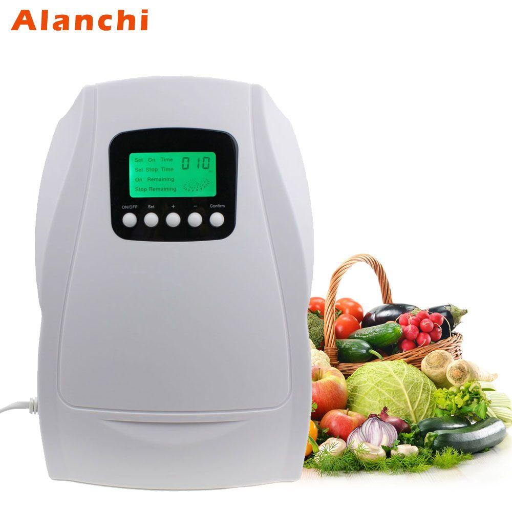 Portable Actif générateur d'ozone Stérilisateur purificateur d'air Purification De Fruits Légumes D'eau la Préparation Des Aliments Ozonateur Ionisateur