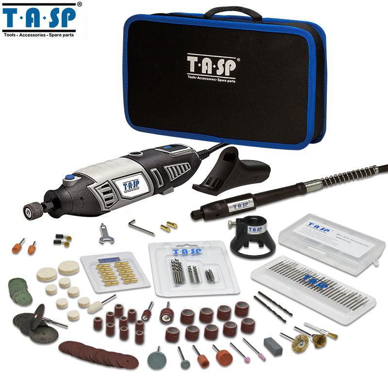 TASP 220V 170W Rotary Tool Set Electric Mini Drill Engraver Kit Mini Grinder Power Tools with Accessories -MMD1700