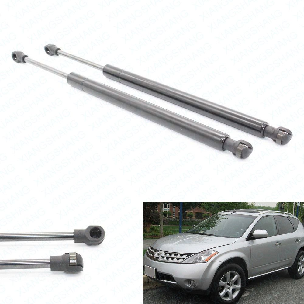 2pcs/set Car Bonnet Hood Gas Struts Shock Struts Auto Lift Supports Spring Strut for Nissan Murano Z50 2003-2007 372 MM