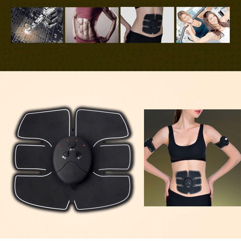Smart EMS Electric Pulse Treatment Massager Abdominal Muscle Trainer Wireless <font><b>Sports</b></font> Muscle Stimulator Fitness Massage 20