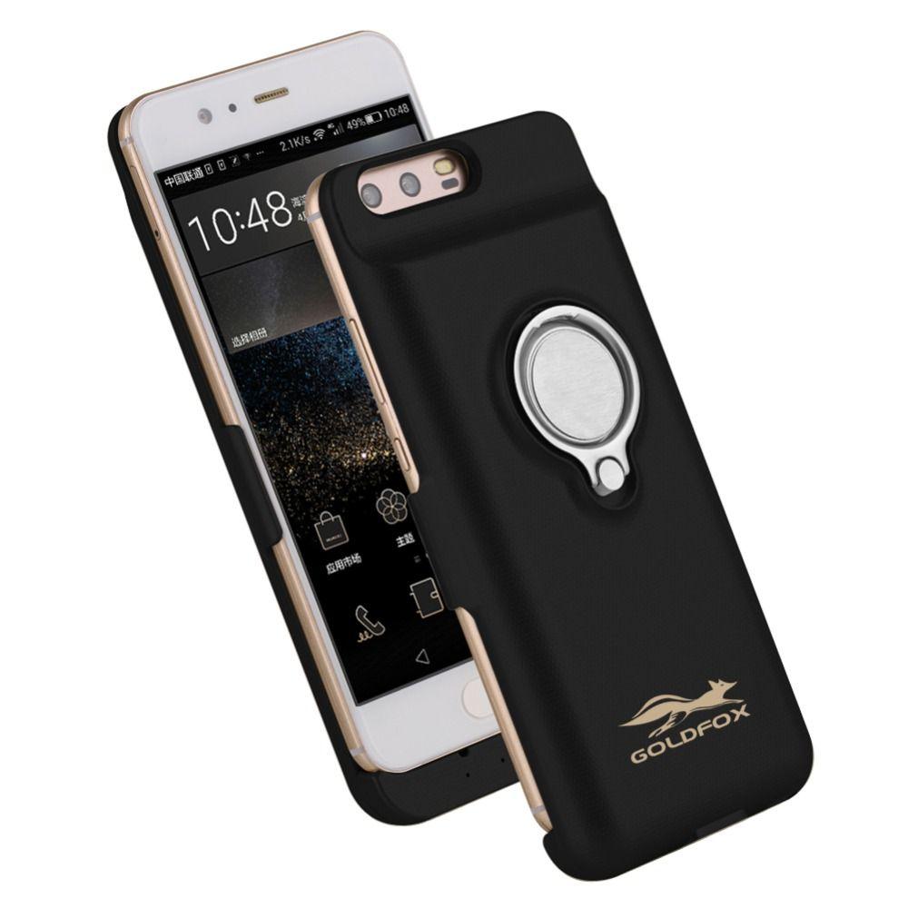 6000 mAh/8000 mAh Puissance Banque Chargeur Cas pour Huawei P10/P10 Plus Externe Pack Sauvegarde Charge De La Batterie cas Couverture avec Anneau Tenir