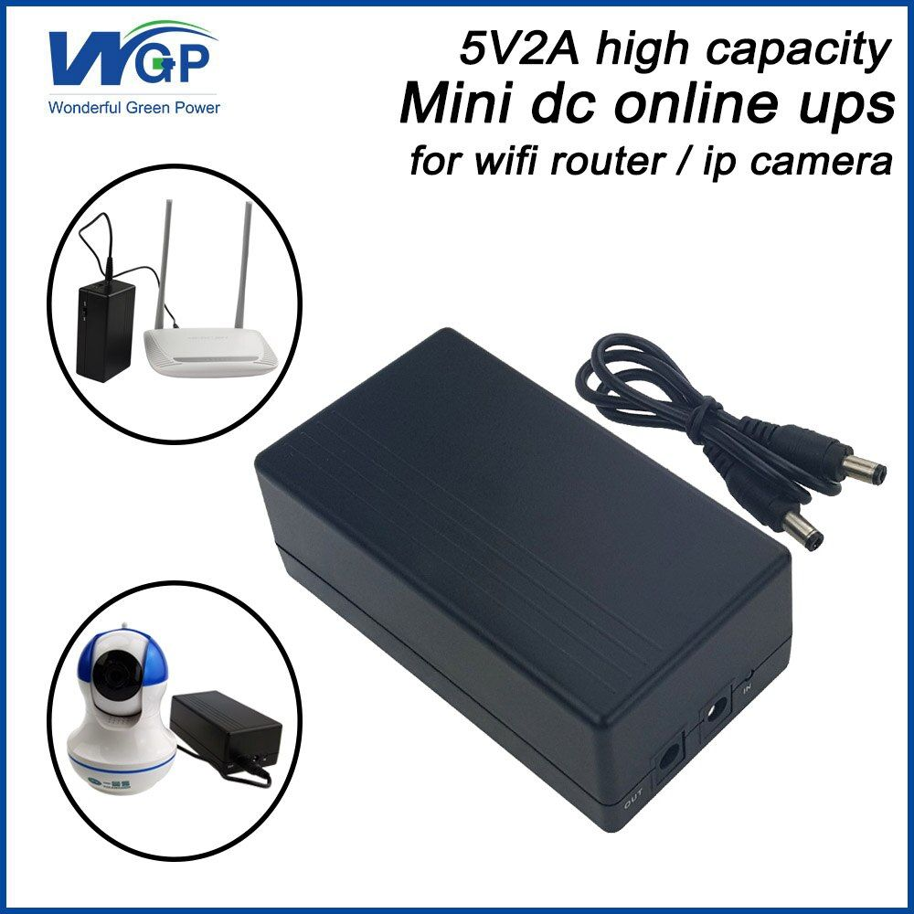 Large capacity 57.72wh 5v 2a potable ups dc back up power supply with 18650 li ion battery mini ups for ip camera and DVR