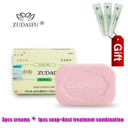 ZUDAIFU Sulfur Soap Skin Conditions Acne Psoriasis Seborrhea Eczema Anti Fungus Bath  whitening soap shampoo soap making+GIFT