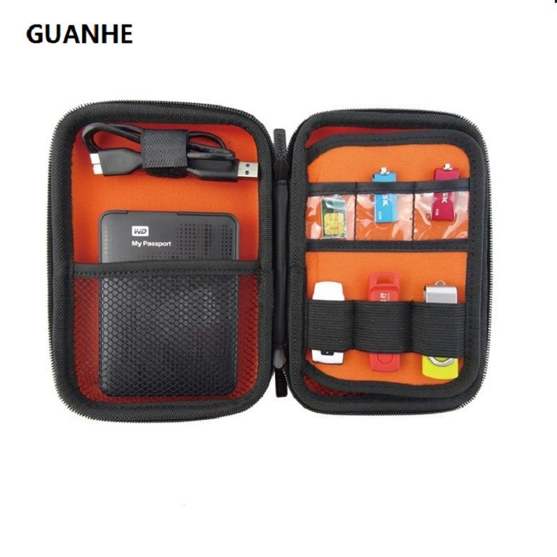 GUANHE 2.5 pouces disque dur externe protéger électronique câble organisateur sac USB lecteur carte mémoire HDD boîtier GH1315