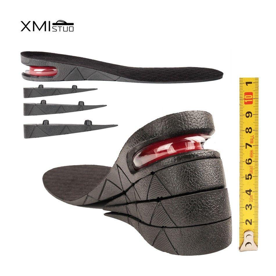 3-9 cm hauteur augmenter semelle intérieure hauteur ascenseur réglable coupe chaussure talon insérer plus grand choc Support Absorbant coussin de pied