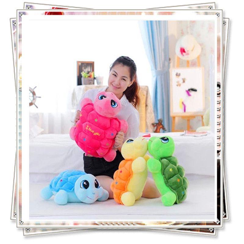 Tortue de mer doux jouets en peluche animaux licorne pas cher jouets mignon oreiller lot main poupées en tissu d'anniversaire du jour de valentine cadeaux