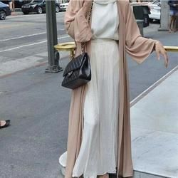 2018 promotion Adulte Occasionnel Acétate Robe Musulmane Turque Abaya Nouveau Musulman Robe Cardigan Robes Arabe Culte W783