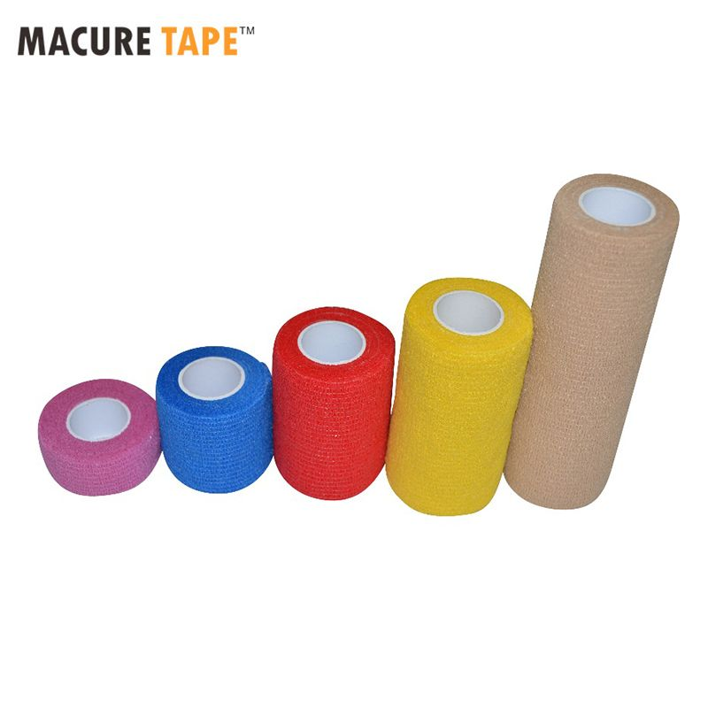 Macure Band Coban Zart Coflex Elastische Selbsthaftende Wrap Self Adhesive Non Woven Cohesive Bandage Band