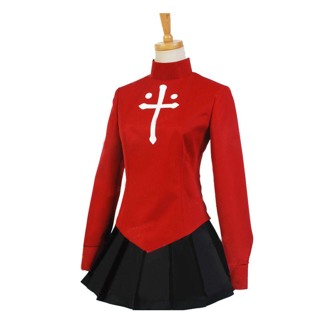 2018 destin séjour nuit destin zéro Tohsaka Rin Cosplay rouge femmes destin séjour nuit Cosplay Costume (deux Styles pour choisir)