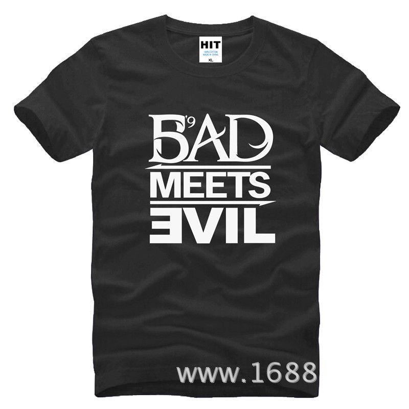 Eminem Bad Meets Evil rap rock männer T-shirt T-shirt Für Männer 2015 Neue Kurzarm Baumwolle Casual Top T-stück T-shirt Masculina