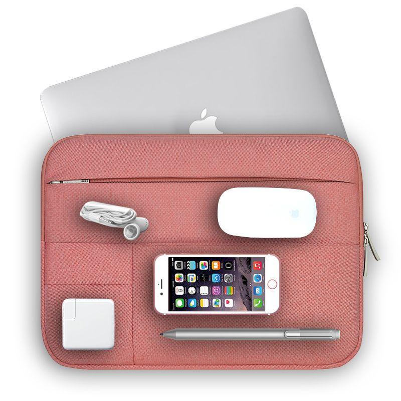 Pochette pour ordinateur portable pour Macbook Pro Air 13 housse femmes hommes solide pochette d'ordinateur pour Mac Pro 15 sacoche pour ordinateur portable 14 15.6 pouces